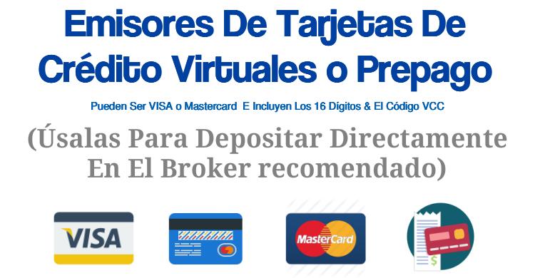 Tarjeta de crédito de opciones binarias